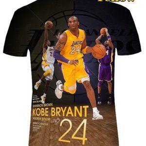 Customized Kobe Bryant 24 hand made short sleeve